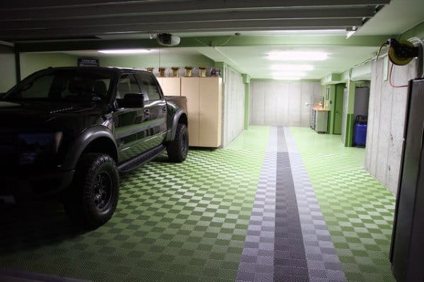 Cool Green Wall Paint Garage Ideas