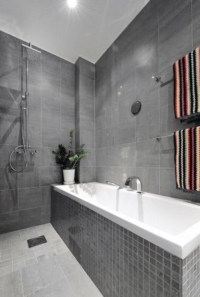 Cool Grey Bathroom Tile Design Ideas