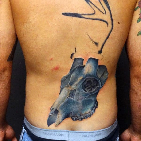 Cool Grey Tattoo Mens Back