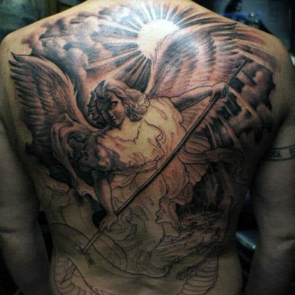 Cool Guardian Angel Tattoos For Guys