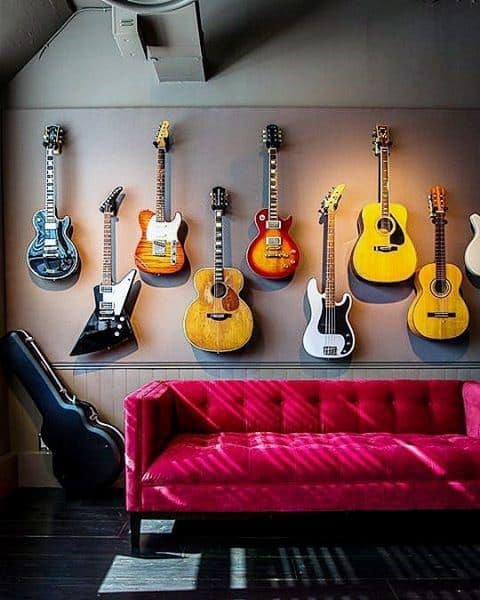 Cool Guitar Wall Mens Bachelor Pad Decor