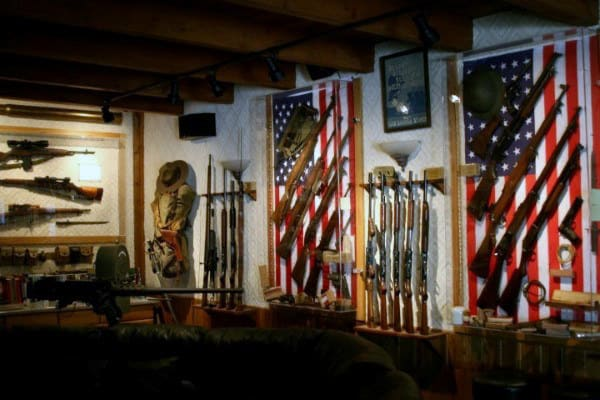 Cool Gun Room Home Man Cave