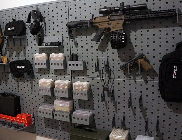 Cool Gun Safe Rack System Organized Gallow Tech