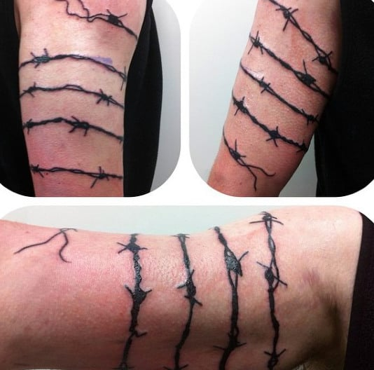 Cool Guys Barb Wire Arm Tattoo