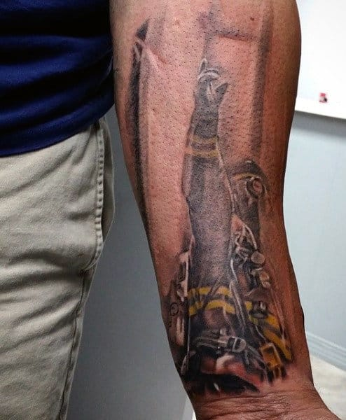 Cool Guy's Firefighters And Tattoos On Wrist