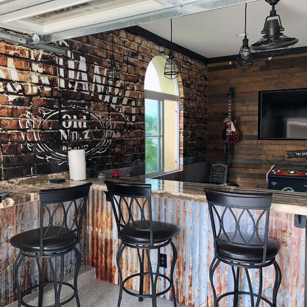 Cool Guys Garage Bar Design Inspiration