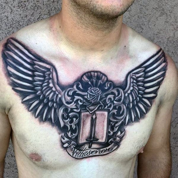 77e7ab17a 50 Last Name Tattoos For Men - Honorable Ink Ideas