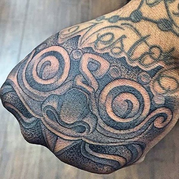 Cool Guys Mayan Hand Tattoo Design Ideas