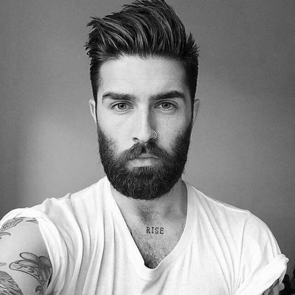 cool hair and beard styles 50 hairstyles for with beards masculine haircut ideas 9333 | cool haircuts with beards for men
