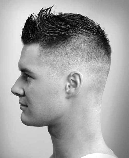 Cool Hairstyle For Men Faded Faux Hawk
