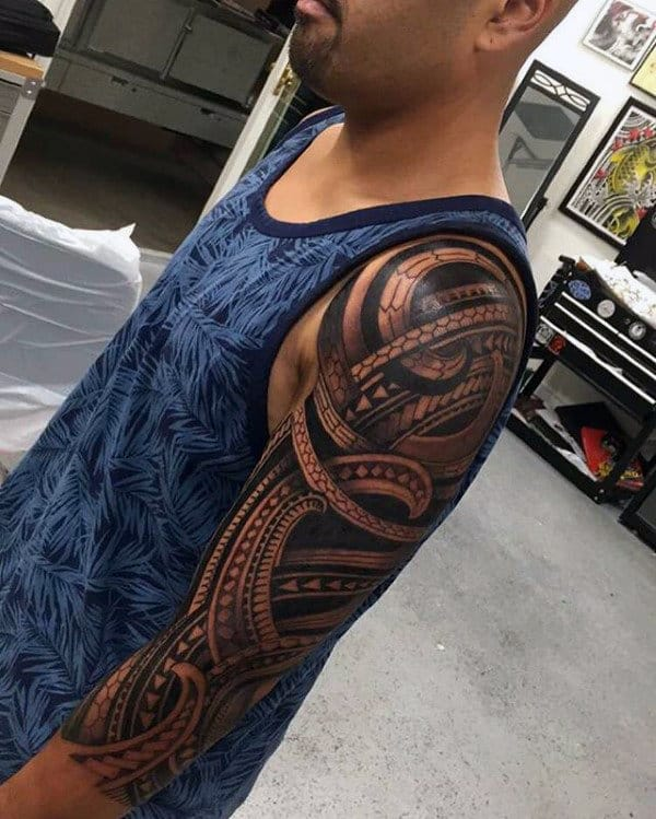 Cool Half Sleeve Tribal Tattoos For Men