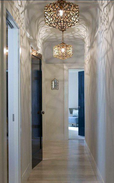 Cool Hallway Lighting Design Ideas Metal Chandelier