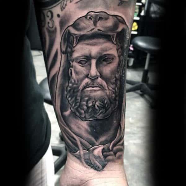 Cool Hercules Wrist Tattoos For Men