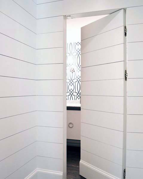 Cool Hidden Door Design Ideas Shiplap Wall Secret Home Bathroom