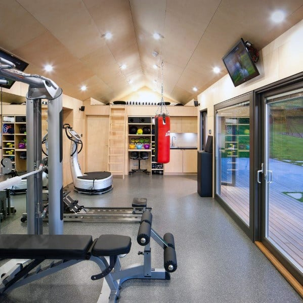 Home Gym Design Ideas Basement: Top 40 Best Home Gym Floor Ideas