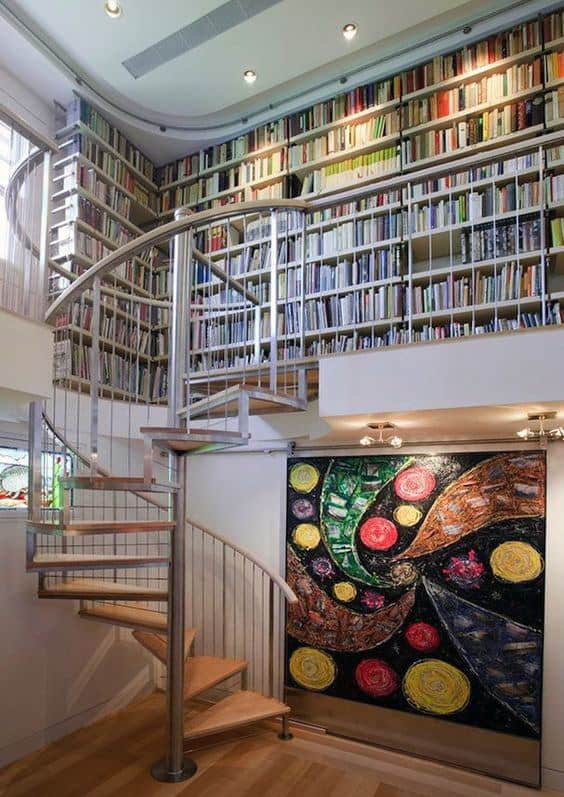 Cool Home Library With Modern Design