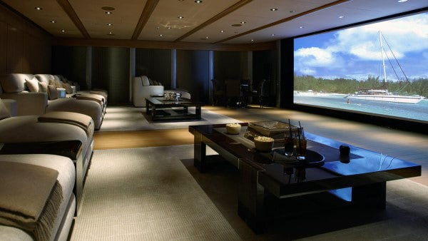 Cool Home Theater Massive Space Of Basement