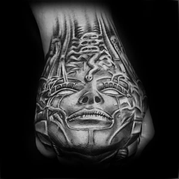 Cool Hr Giger Tattoo Design Ideas For Male