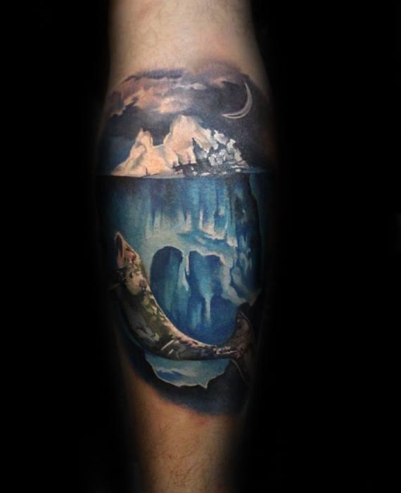 Cool Iceberg Tattoo Design Ideas For Male