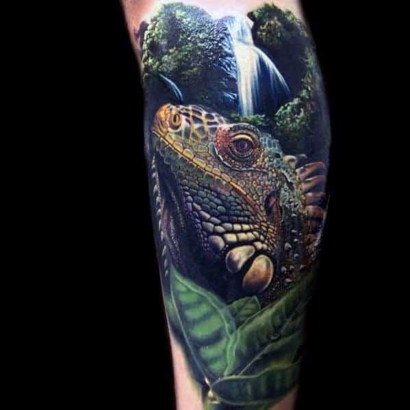 Cool Iguana Tattoo Design Ideas For Male