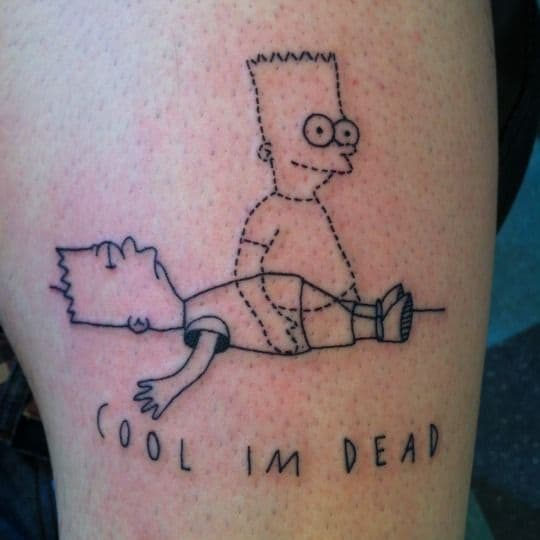 Cool Im Dead Skin Awful Tattoo
