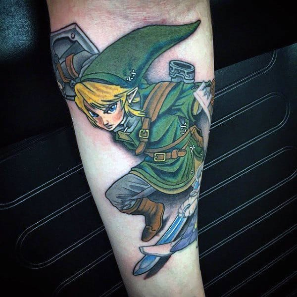 Cool Inner Arm Guys Zelda Tattoo Ideas