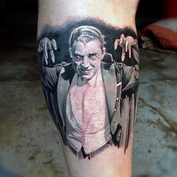 Cool Inner Forearm Dracula Realistic Guys Tattoos