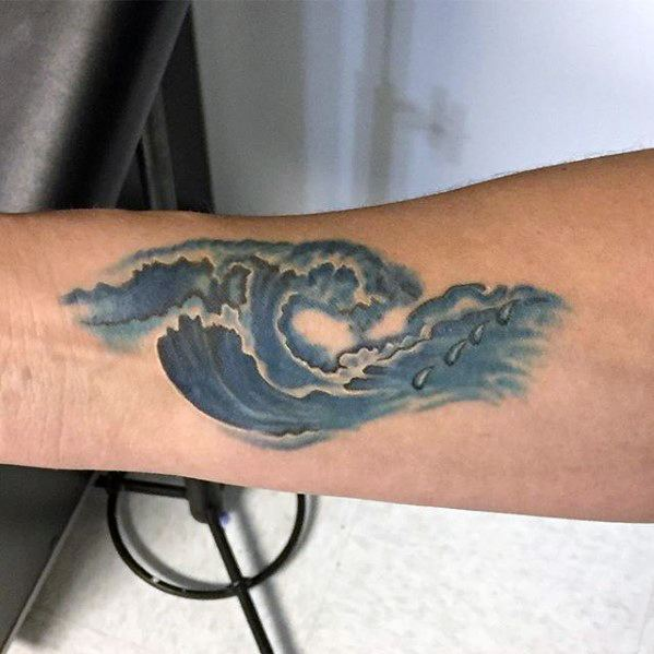 Cool Inner Forearm Watercolor Guys Small Tattoo Ideas