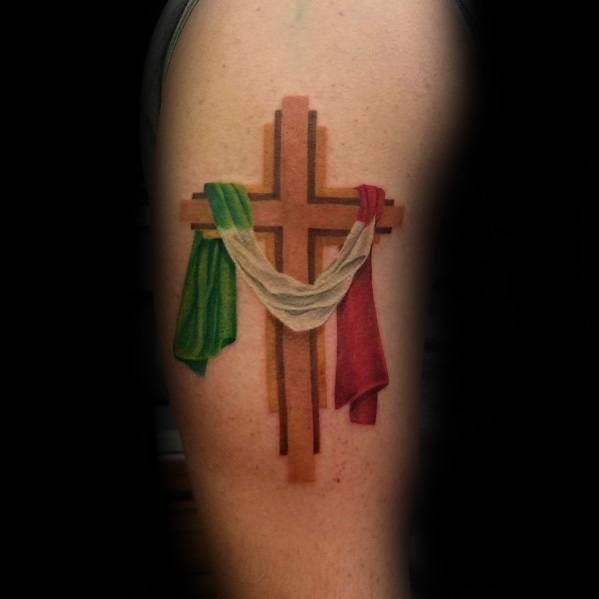 86acd4c92a9b4 40 Italian Flag Tattoo Ideas For Men - Italy Designs