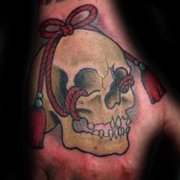 Cool Japanese Skull Hand Tattoos For Men