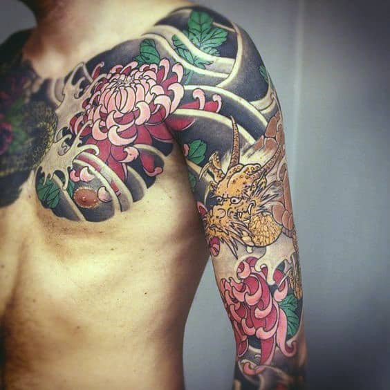Cool Japanese Sleeve Tattoo For Males