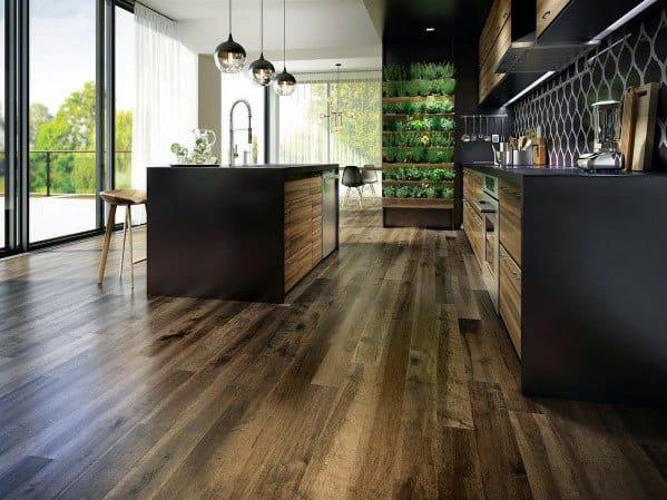 Cool Kitchen Flooring Design Ideas Hardwood