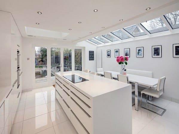 Cool Kitchen Flooring White Tile