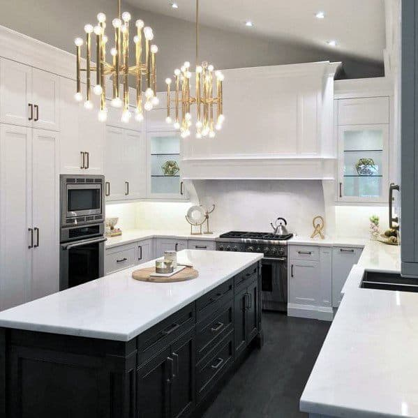 Cool Kitchen Island Lighting Modern Gold Fixtures