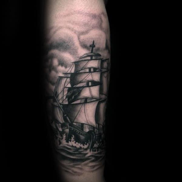 Cool Kraken Tattoos For Gentlemen With Realistic Design