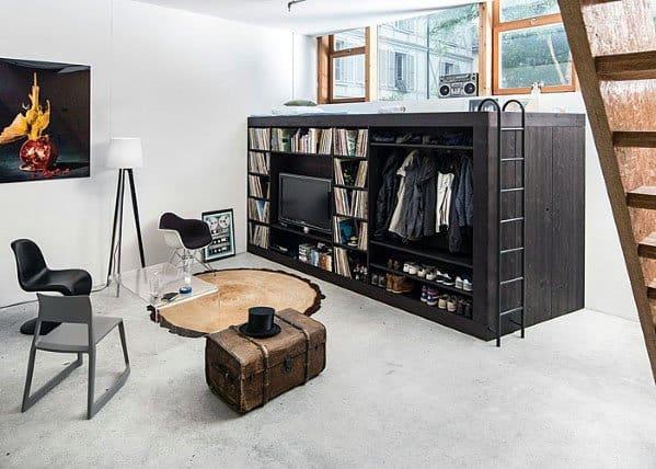 Cool Ladder Bed Studio Apartment Ideas