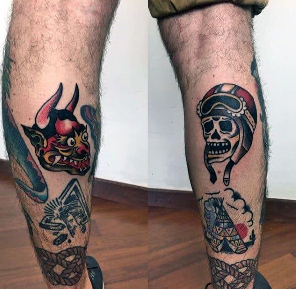 50 traditionelle Teufel Tattoo Designs für Männer - Old School Ideas