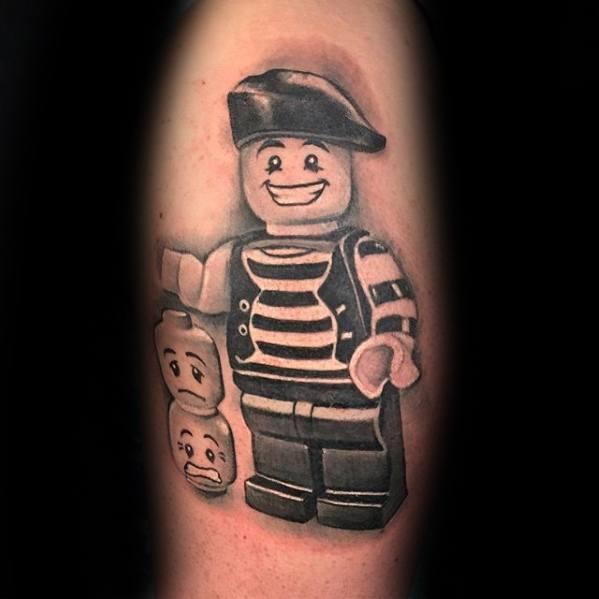 Cool Lego Tattoo Design Ideas For Male