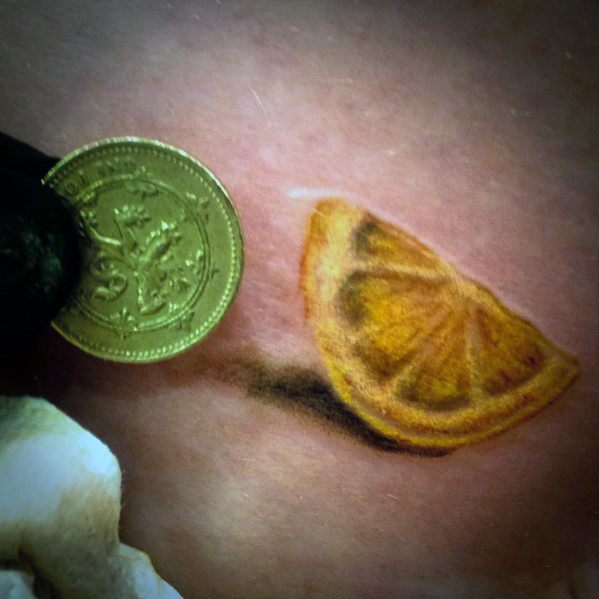 Cool Lemon Tattoo Design Ideas For Male