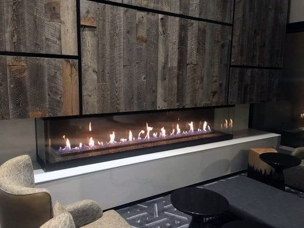 Cool Linear Fireplace Design Ideas Living Room