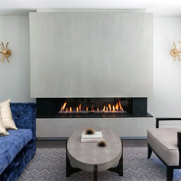 Cool Linear Gas Fireplace For Living Room