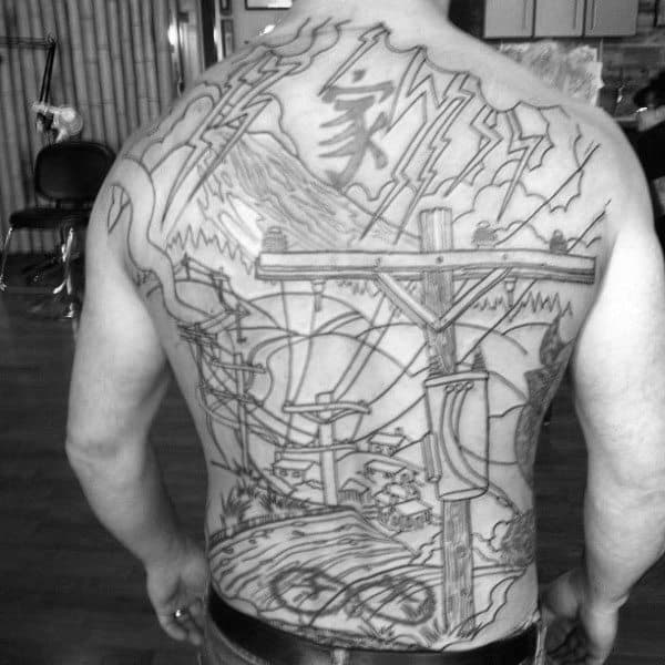 50 Lineman Tattoos For Men