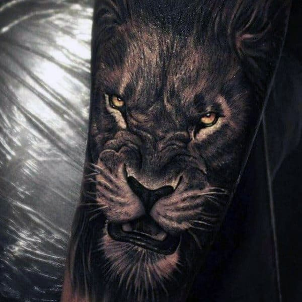 Cool Lion Animal Tattoo For Guys