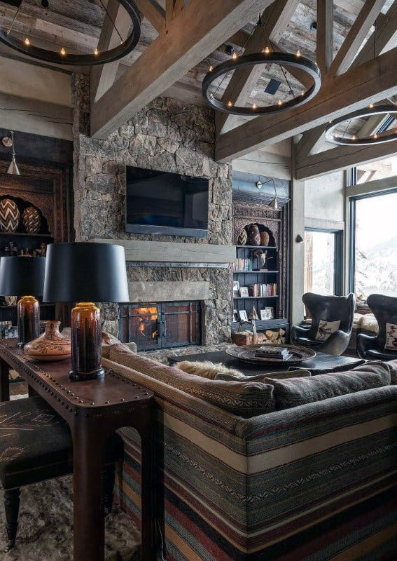 Cool Log Cabin Interior Design Ideas