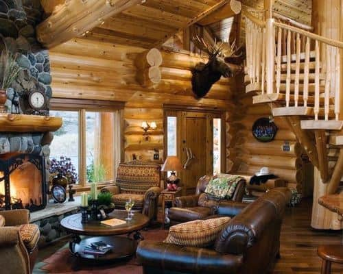 Top Best Log Cabin Interior Design Ideas Mountain Retreat Homes