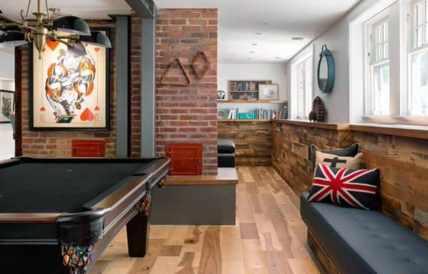 Cool Lounge Awesome Man Caves With Hardwood Floors