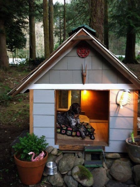 Cool Luxury Dog House Ideas With Interior Lighting
