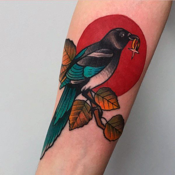 Cool Magpie Tattoos For Men