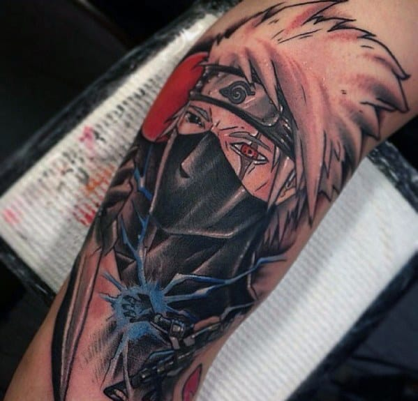 Cool Male Anime Tattoo Designs On Arm