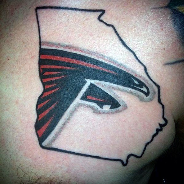 20 atlanta falcons tattoo designs for men football ink ideas. Black Bedroom Furniture Sets. Home Design Ideas